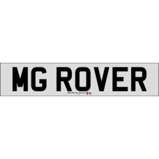 MG Rover front number plate new style badge