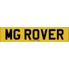 MG Rover rear number plate new style badge