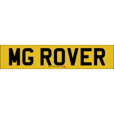 MG Rover rear number plate old style badge